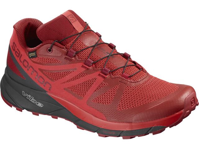 Salomon Sense Ride GTX Invisible Fit Shoes Herre red dahlia/phantom/high risk red